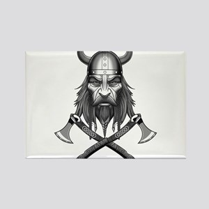 Viking Warrior Head Magnets