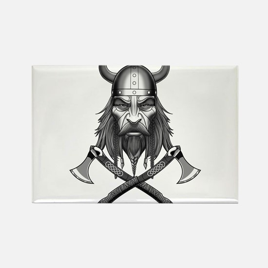 Viking Warrior Head Magnets