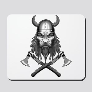 Viking Warrior Head Mousepad