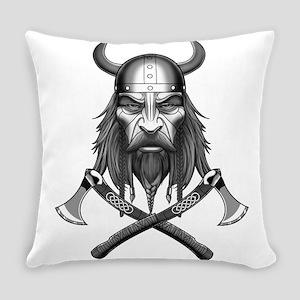 Viking Warrior Head Everyday Pillow