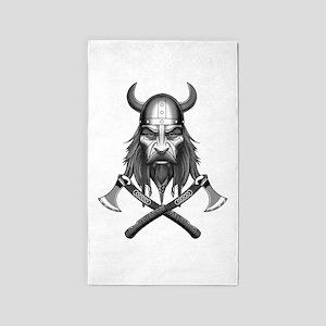 Viking Warrior Head Area Rug
