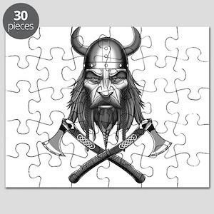 Viking Warrior Head Puzzle