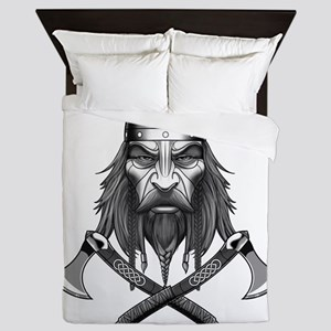 Viking Warrior Head Queen Duvet