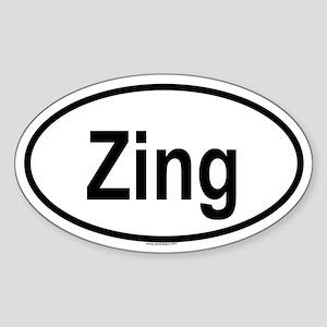 ZING Oval Sticker