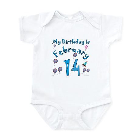 February 14th Birthday Infant Bodysuit