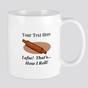 Personalized Lefse How I Roll Mug