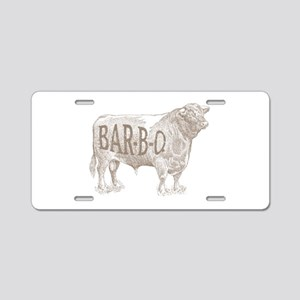 Barbecue BEEF Aluminum License Plate