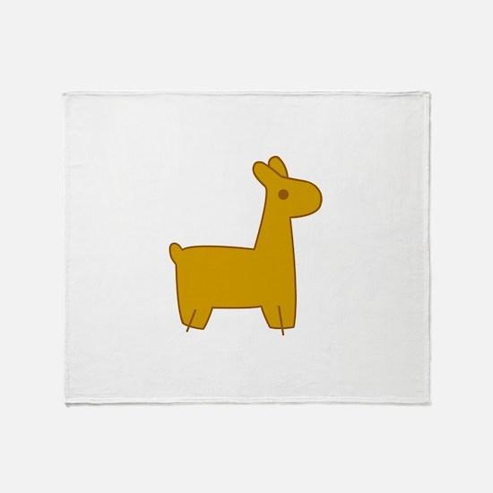 Mabel Llama Throw Blanket