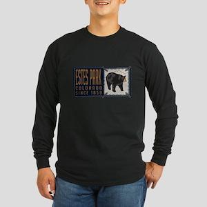 Estes Park Black Bear Badge Long Sleeve T-Shirt