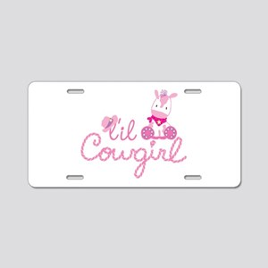 Lil Cowgirl Aluminum License Plate