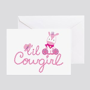 Lil Cowgirl Greeting Cards