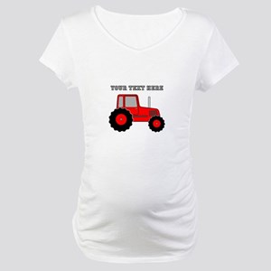 Personalized Red Tractor Maternity T-Shirt