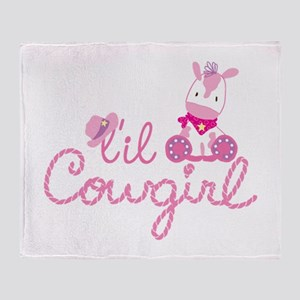 Lil Cowgirl Throw Blanket