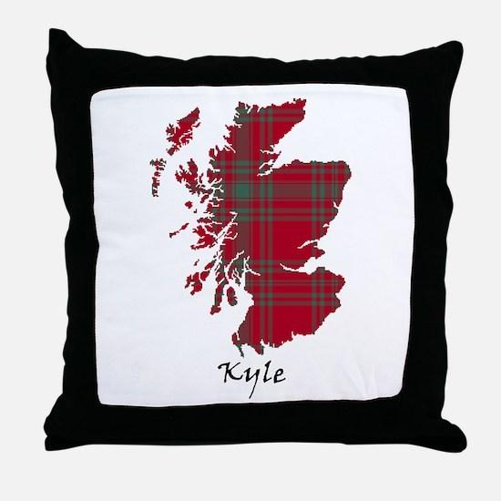 Map - Kyle Throw Pillow