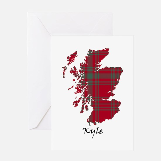 Map - Kyle Greeting Card