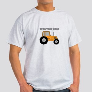 Personalized Orange Tractor Light T-Shirt