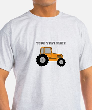 Personalized Orange Tractor T-Shirt