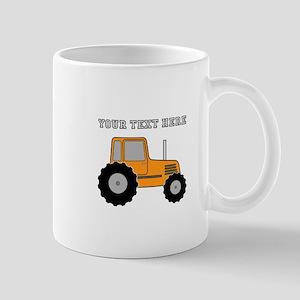 Personalized Orange Tractor Mug