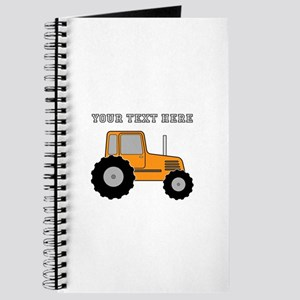 Personalized Orange Tractor Journal