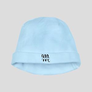 Monogram M baby hat