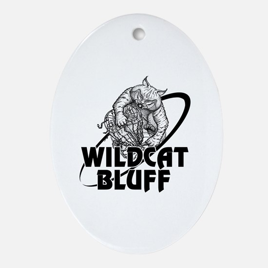 Cute Wildcats Oval Ornament