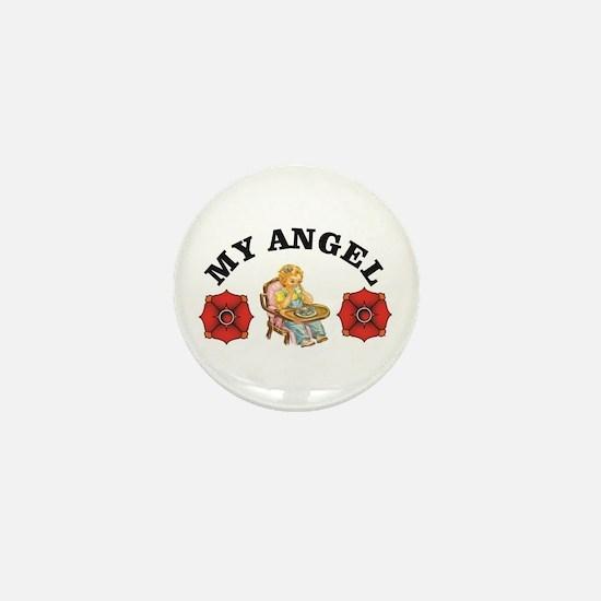heavens my angel Mini Button
