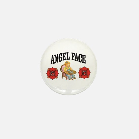 angel face in baby clothes Mini Button