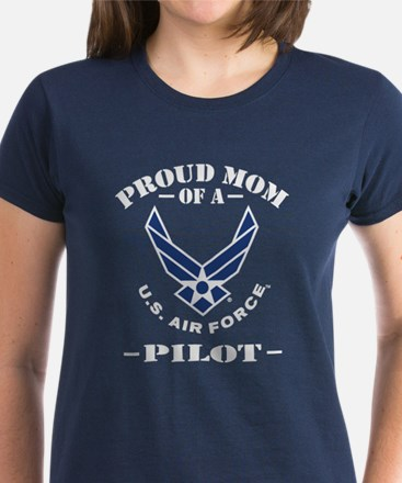 Proud Mom Of A US Air Force P Women's Dark T-Shirt