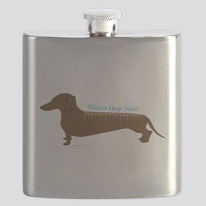 Wiener Dogs Rule Flask