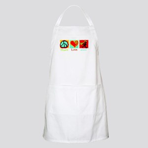 Peace Love Jazz BBQ Apron