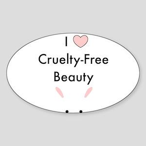 I love cruelty free beauty Sticker