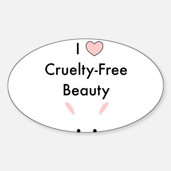 I love cruelty free beauty Decal