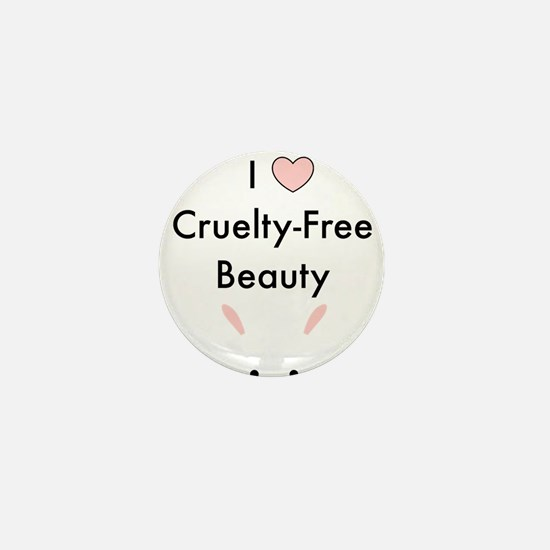 I love cruelty free beauty Mini Button
