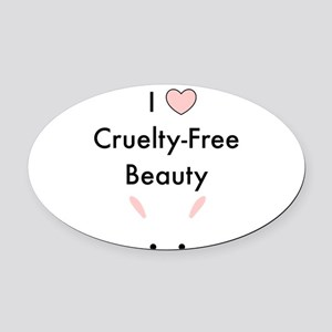 I love cruelty free beauty Oval Car Magnet