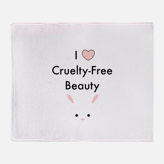 I love cruelty free beauty Throw Blanket