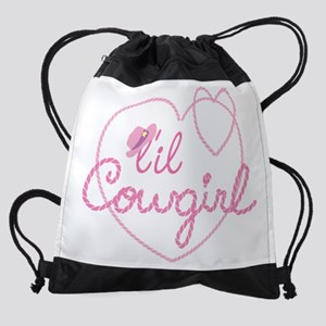 Lil Cowgirl Heart Drawstring Bag