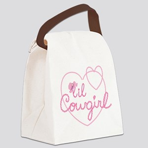 Lil Cowgirl Heart Canvas Lunch Bag