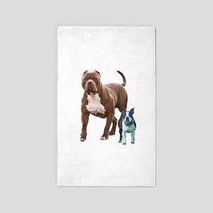 Pit bull Boston terrier Area Rug