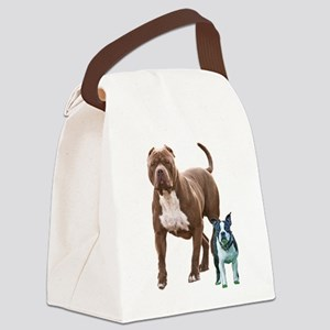 Pit bull Boston terrier Canvas Lunch Bag