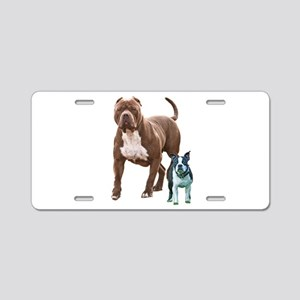 Pit bull Boston terrier Aluminum License Plate