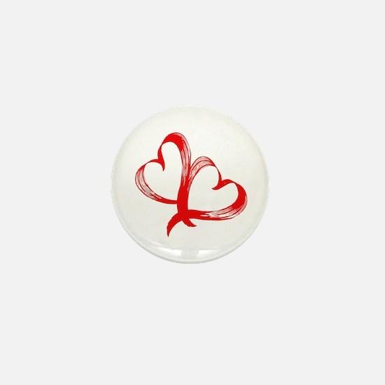 Double Heart Mini Button