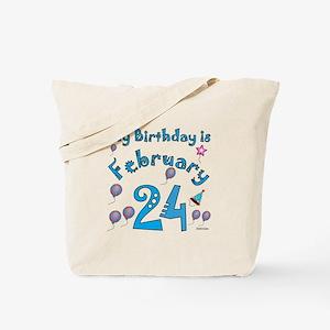 February 24th Birthday Tote Bag