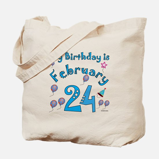 February 24th Birthday Tote Bag