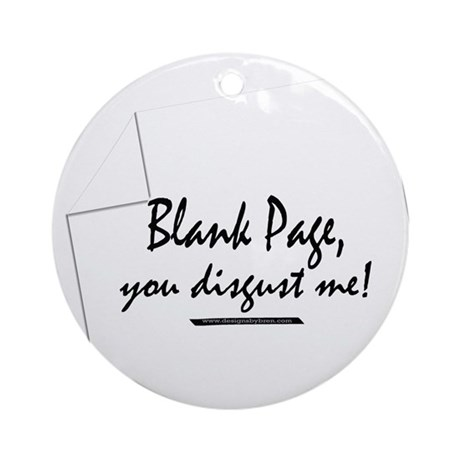 Blank Page Ornament (Round)