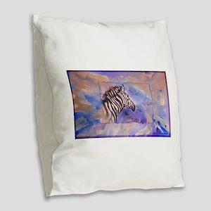 Zebra! Wildlife art! Burlap Throw Pillow