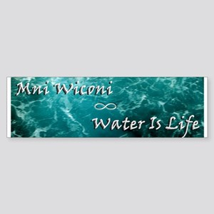 Mni Wiconi-Water Is Life (bumper) Bumper Sticker