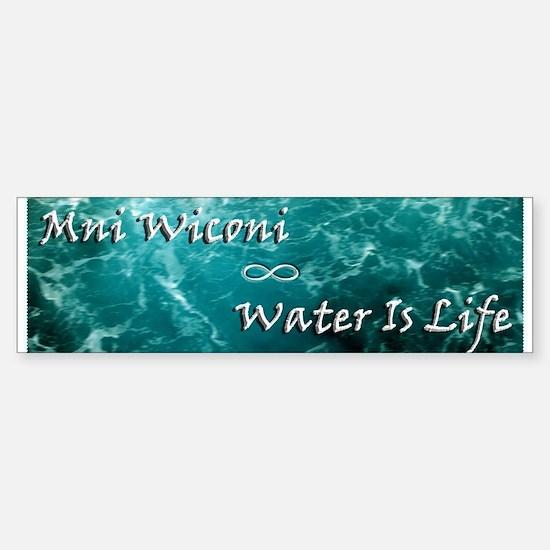 Mni Wiconi-Water Is Life (bumper) Bumper Bumper Bumper Sticker