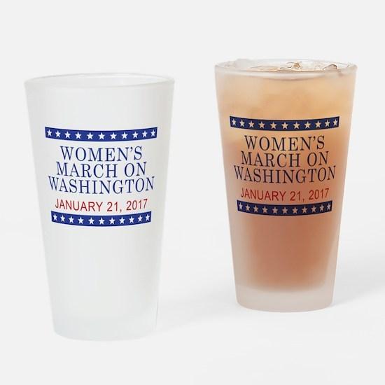 WOMEN'S MARCH ON WASHINGTON Drinking Glass