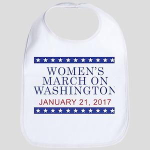 WOMEN'S MARCH ON WASHINGTON Baby Bib