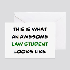 awesome law student Greeting Card